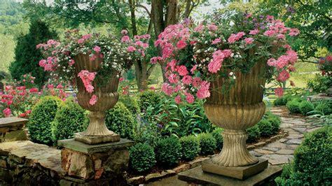 raised urns spectacular container gardening ideas