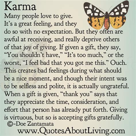 Quotes About Living  Doe Zantamata Karma  The Joy Of
