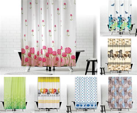 Shower Curtains : New Designer Fabric Shower Curtains Extra Long 180 X 200