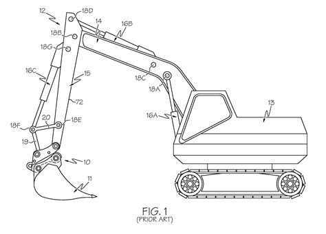 patent  progressive linkage  excavator thumb google patents