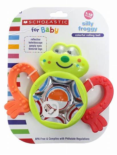 Scholastic Froggy Toy Silly Rattle Toys
