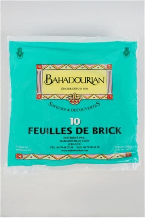 cuisiner feuille de brick feuilles de brick bahadourian feuilles de brick paquet 200g les ptes cuisiner