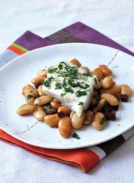 cuisiner haricots beurre filet de merlu et haricots tarbais au chorizo savoir