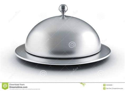 cloche cuisine 3d silver restaurant cloche stock illustration