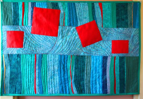 Modern Abstract Art Quilt Wall Hanging By Barbaraharmsfiberart