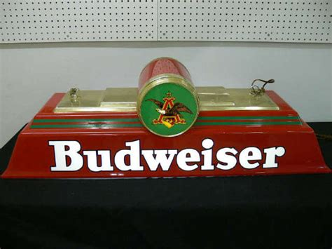 budweiser pool table light 1996 budweiser logo pool table light