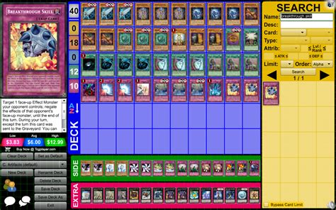 artifact yugioh deck list treasures and artifacts chronomaly 2 0 deck with