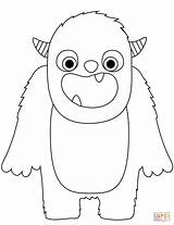 Monster Coloring Pages Printable Cute Monsters Cartoon Supercoloring Birthday Snow Halloween sketch template