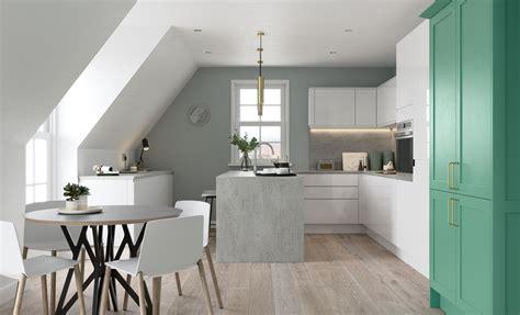 modern green kitchen strada gloss 4202