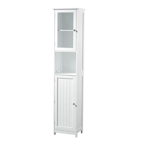 tall corner bathroom cabinet furniture white wooden tall free standing bathroom