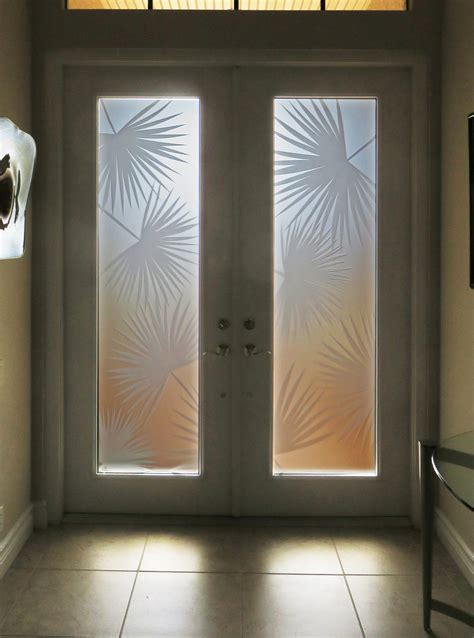 custom etched glass door inserts  fort myers naples