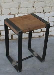 Tabouret Style Industriel : tabouret r 39 tab006 giani desmet meubles indus bois m tal et cuir ~ Teatrodelosmanantiales.com Idées de Décoration
