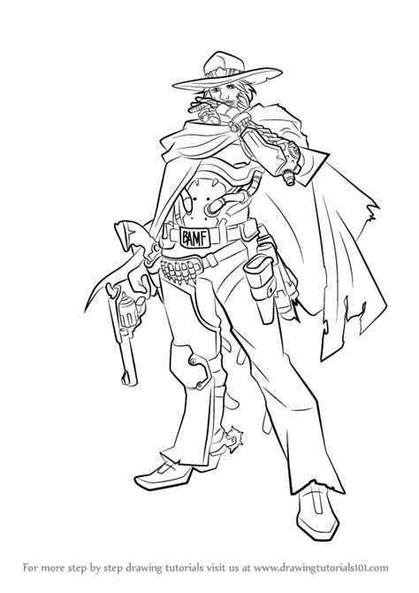 Kleurplaat Overwatch Doomfist by Learn How To Draw Mccree From Overwatch Overwatch Step