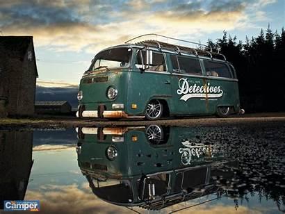 Bus Camper Vw Wallpapers Rusty Buses Slammed