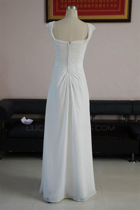 Sheath/Column Floor Length Chiffon Bridal Wedding Dresses ...