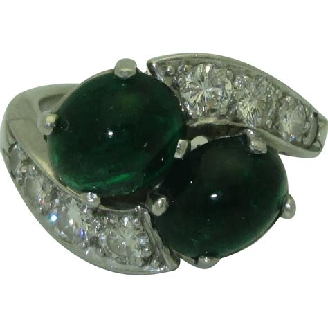 vintage deco emerald ring vintage deco emerald bypass ring from josephines on ruby