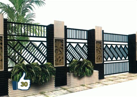Galeri gambar buat pagar tembok minimalis : 40 Model Pagar Tembok Minimalis | Desainrumahnya.com