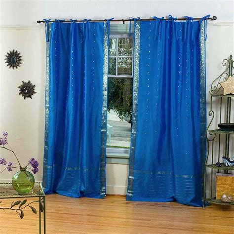 blue sheer curtains australia enchanting blue tie top sheer sari curtain drape panel