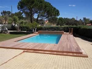 Bois Pour Terrasse Piscine : pose terrasse bois bord piscine diverses ~ Edinachiropracticcenter.com Idées de Décoration