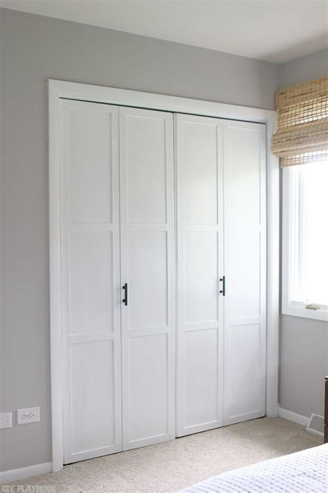 diy door tutorial  add trim  plain bifold doors