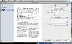 how to scan in os x using image capture With scan document mac