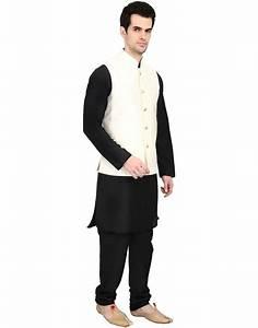 Buy indian ATTIRE Cream Blended Silk Koti (Waistcoat) and