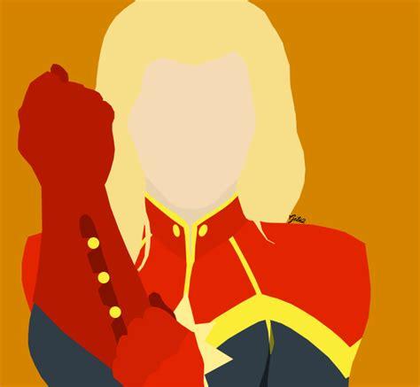 Captain Marvel Minimalist By Guardianofthenight2 On Deviantart