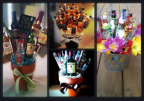 shot diy booze bottle bouquet drinking  america