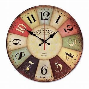 Aliexpress, Com, Buy, 12, Inch, Retro, Wooden, Wall, Clock, Farmhouse, Decor, Silent, Non, Ticking, Wall