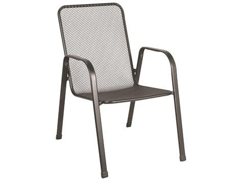 sunvilla verona steel mesh chair stackable in black sold