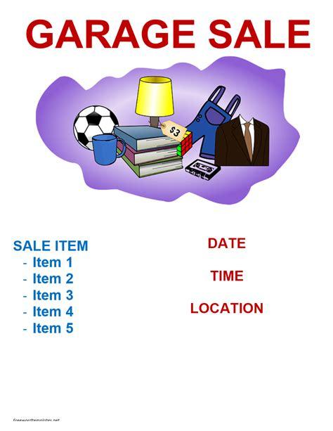 Garage Sale Flyer Template Word by Garage Sale Flyer Template Freewordtemplates Net