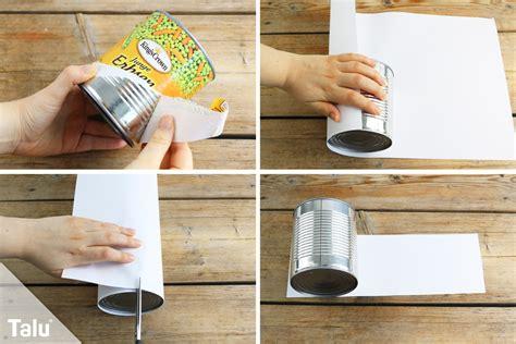 basteln mit konservendosen was kann aus blechdosen basteln