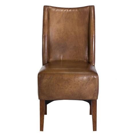 blythe vintage leather chair brown dining chairs