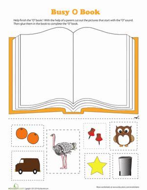 letter o worksheets o book worksheet education 33961