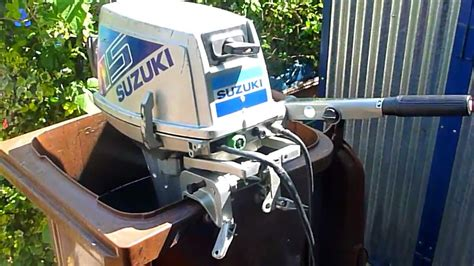suzuki dt outboard cold start youtube