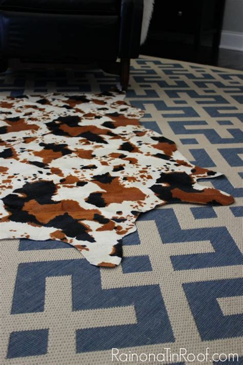 Diy Cowhide Rug by Diy Faux Cowhide Rug For Only 15