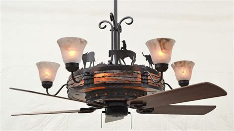 ceiling fan chandelier rustic albuquerque by kiva