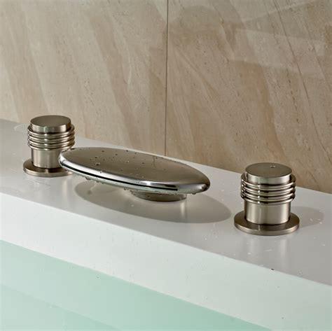 luxury bathroom sink faucets luxury dual round handles waterfall spout basin vessel