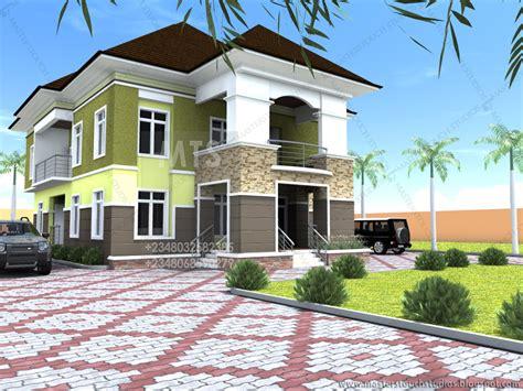 udeeme  bedroom duplex modern  contemporary nigerian building designs