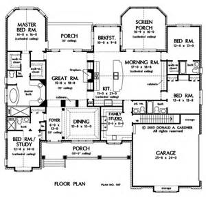 single story house plans with 2 master suites floor plan of the clarkson house plan number 1117