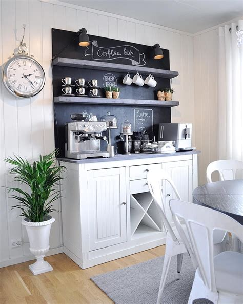 If your coffee station set up requires a coffee bar organizer, take a look at this idea i stole from my neighbor… now, my neighbor has a really small kitchen, so she used this rolling. Awesome 25 Best Corner Coffee Wine Bar https://decorisme.co/2018/01/04/25-best-corner-coffee ...