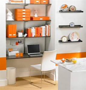 Small, Modern, Office, Space, With, Furniture