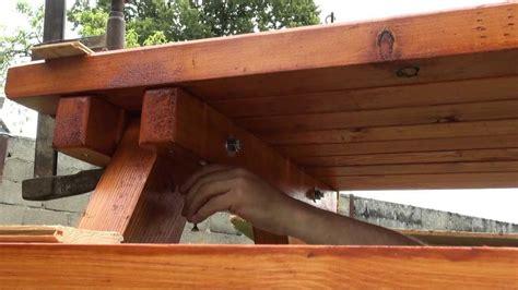 fabriquer chaise en bois bricolage table pique nique