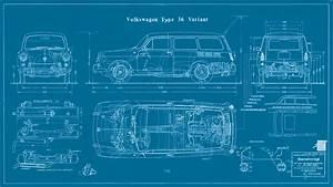 Type 3 Squareback Blueprint Tôlerie