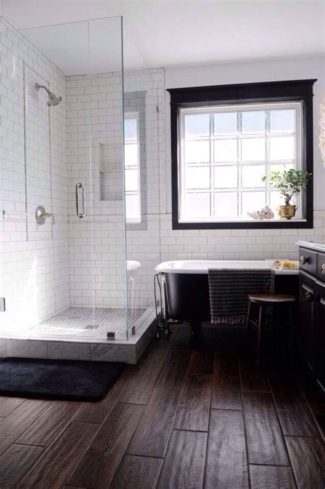 Modern Bathroom White Subway Tile by Modern Bathroom Subway Tile Wood Home Projects