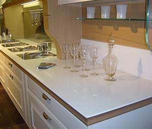 cuisine plan de travail de cuisine classique clair en With plan de travail de cuisine en quartz