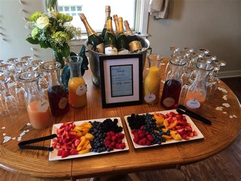 mimosa bar bridal shower tips and tricks for planning a great bridal shower the rental company