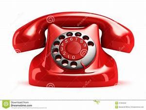 Telefon Schnurlos Retro : rotes retro telefon vorderansicht stock abbildung ~ Watch28wear.com Haus und Dekorationen