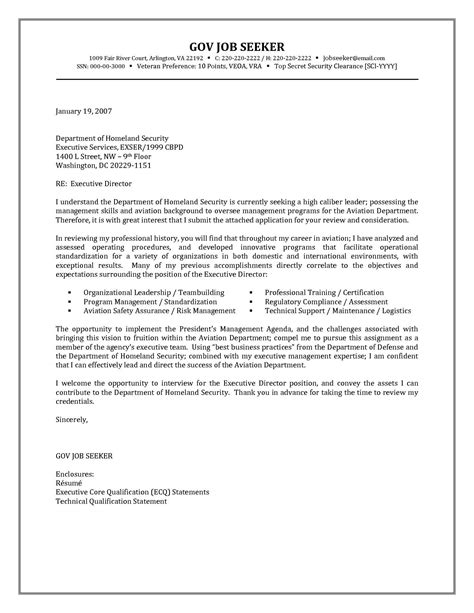 federal resume cover letter government resume cover letter exles http