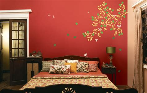 asian paint spring diaries stencil  colourdrive wall